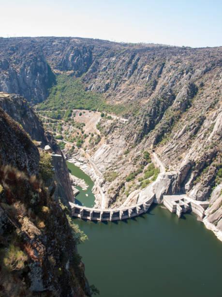High angle view of Aldeadavila de la Ribera Dam