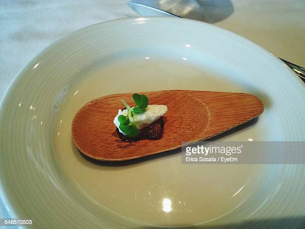 High Angle View Of Amuse-Bouche Served In Plate