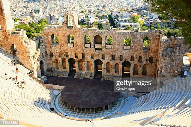 High angle view of an amphitheater, Theater Of Herodes Atticus, Athens, Greece