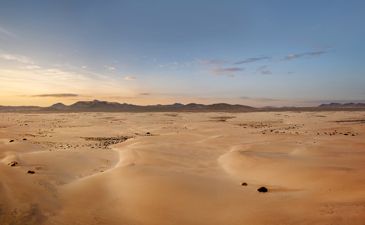 High angle view of an empty desert with copy space 1173917307