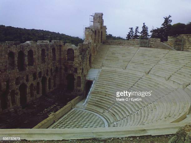 High Angle View Of Ancient Amphitheater