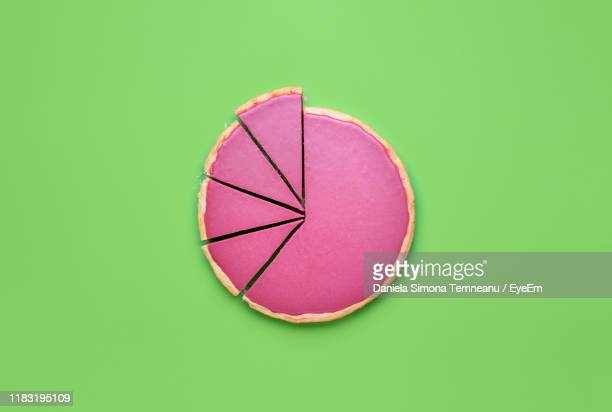 high angle view of apple against white background - pie chart stock pictures, royalty-free photos & images