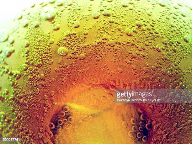 High Angle View Of Apple Juice In Glass
