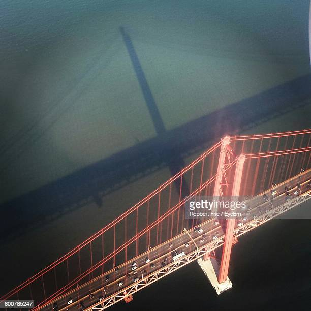High Angle View Of April 25Th Bridge Over Tagus River