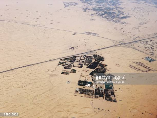 high angle view of arid landscape - bortes stock pictures, royalty-free photos & images