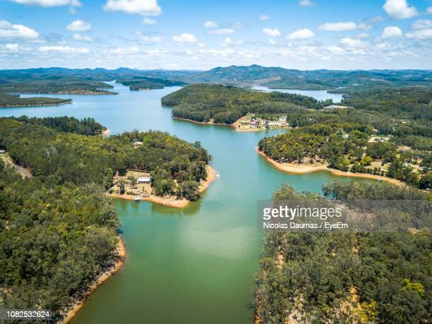 high angle view of bay against sky - antananarivo stock photos and pictures