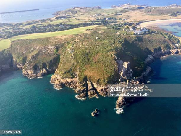 high angle view of bay - island stock pictures, royalty-free photos & images