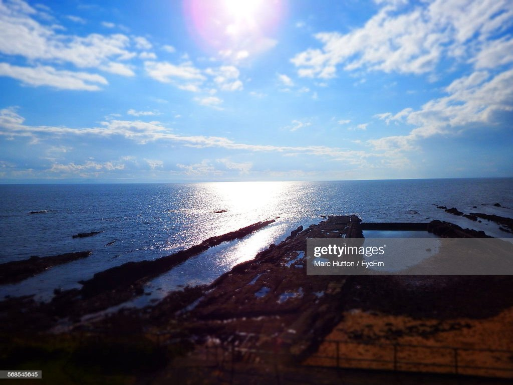 High Angle View Of Beach Against Sky : Stock Photo