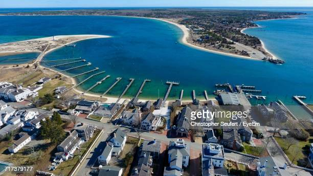 high angle view of beach - martha's_vineyard stock pictures, royalty-free photos & images