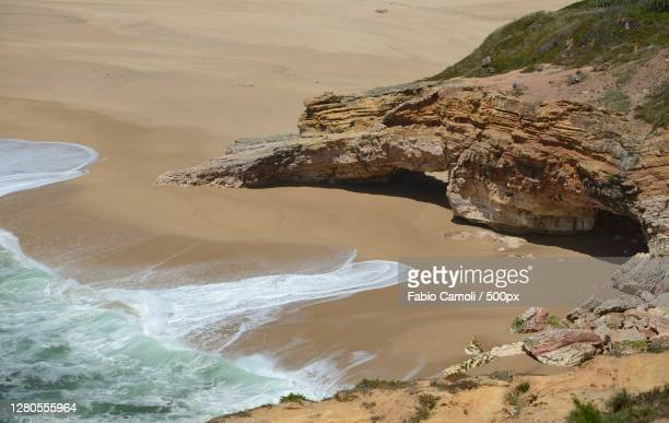 high angle view of beach,portugal - 2016 stock pictures, royalty-free photos & images
