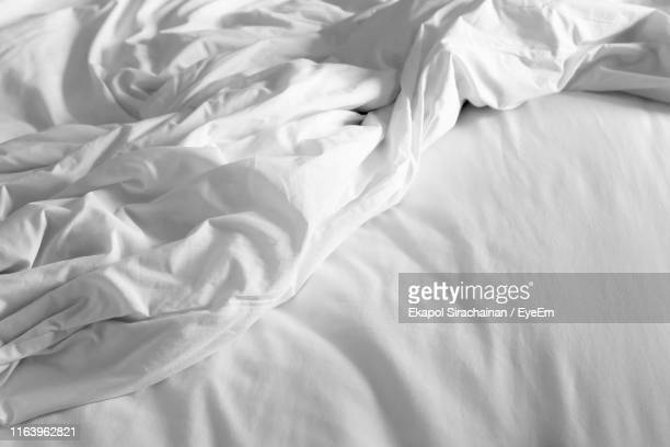 high angle view of bed - sheet stock pictures, royalty-free photos & images