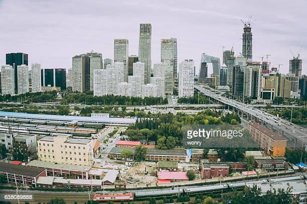 High angle view of Beijing Guomao, China