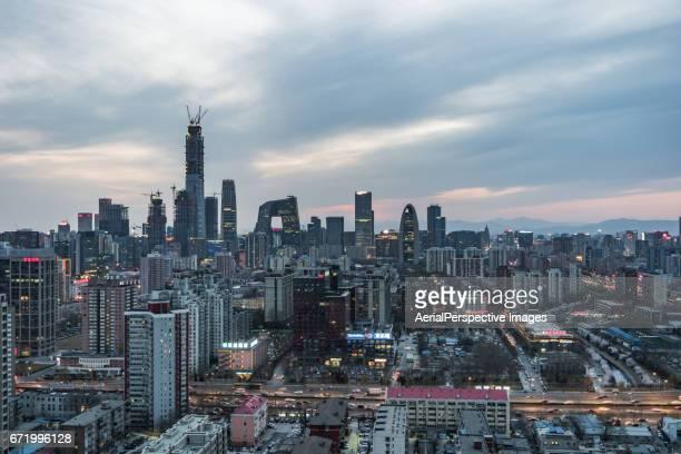 High angle view of Beijing Skyline, Day