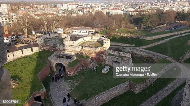 High Angle View Of Belgrade Fortress In City