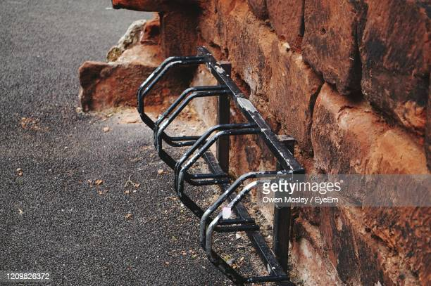 high angle view of bicycle stand - carlisle stock pictures, royalty-free photos & images