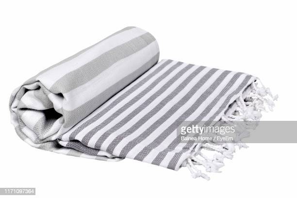 high angle view of blanket on white background - 毛布 ストックフォトと画像
