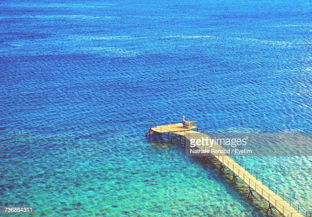 High Angle View Of Blue Sea