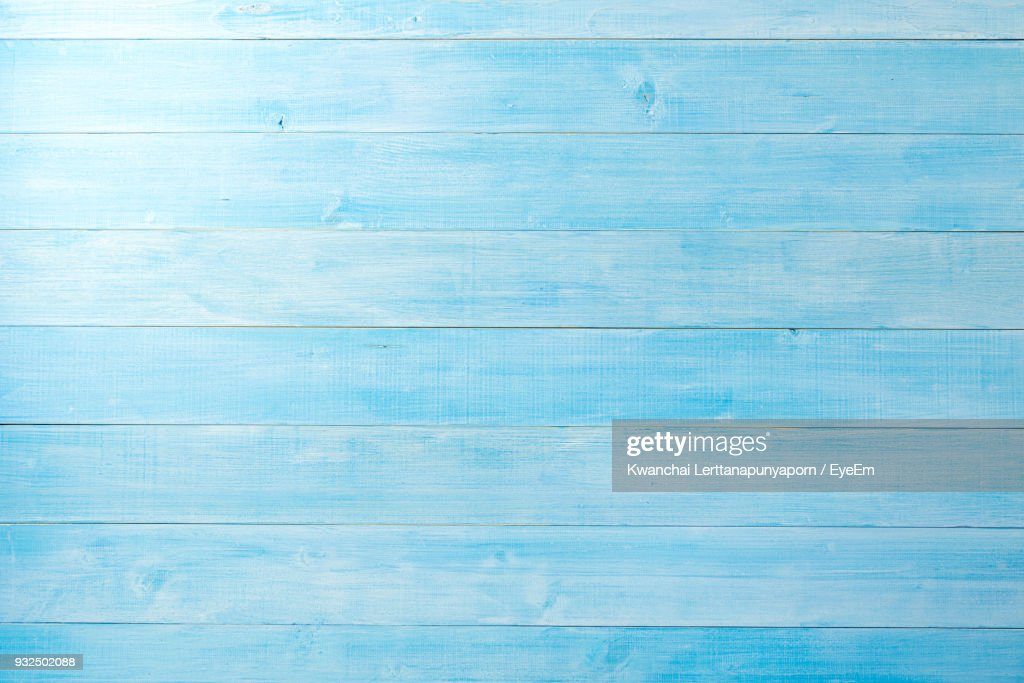 High Angle View Of Blue Table : Stockfoto