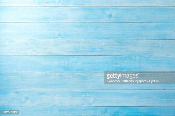 high angle view of blue table - wood material stock pictures, royalty-free photos & images