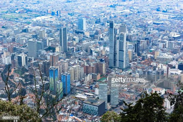 high angle view of bogotá city, colombia - ボゴタ ストックフォトと画像