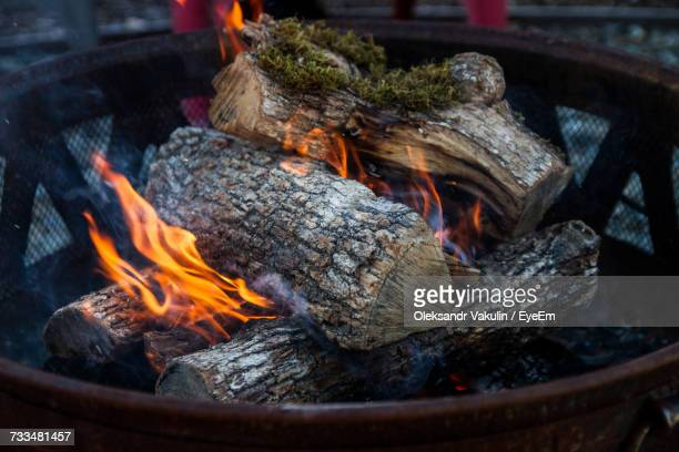high angle view of bonfire - oleksandr vakulin stock pictures, royalty-free photos & images
