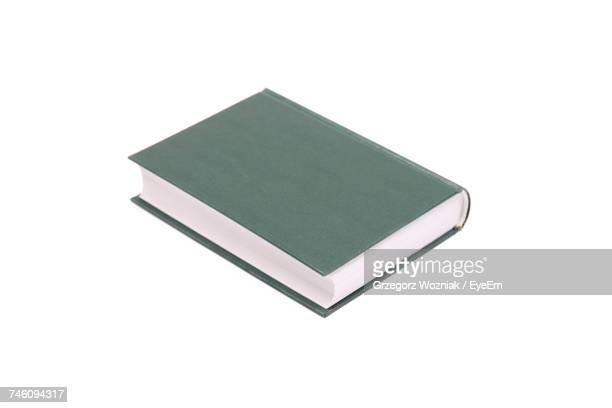 High Angle View Of Book On White Background