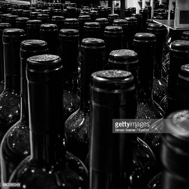 high angle view of bottles - bad homburg stock pictures, royalty-free photos & images