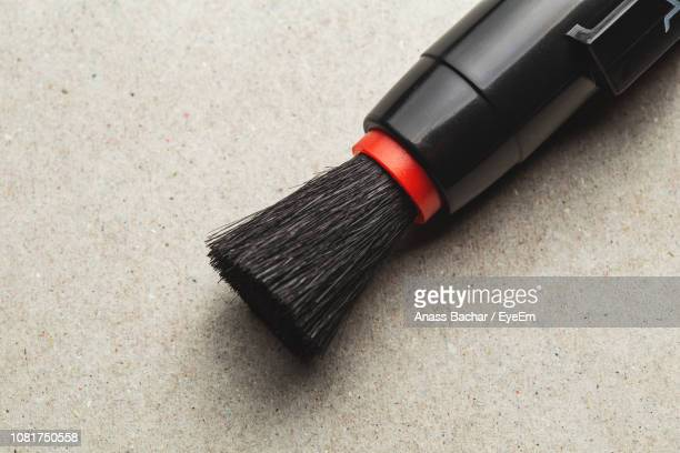 High Angle View Of Brush On Table