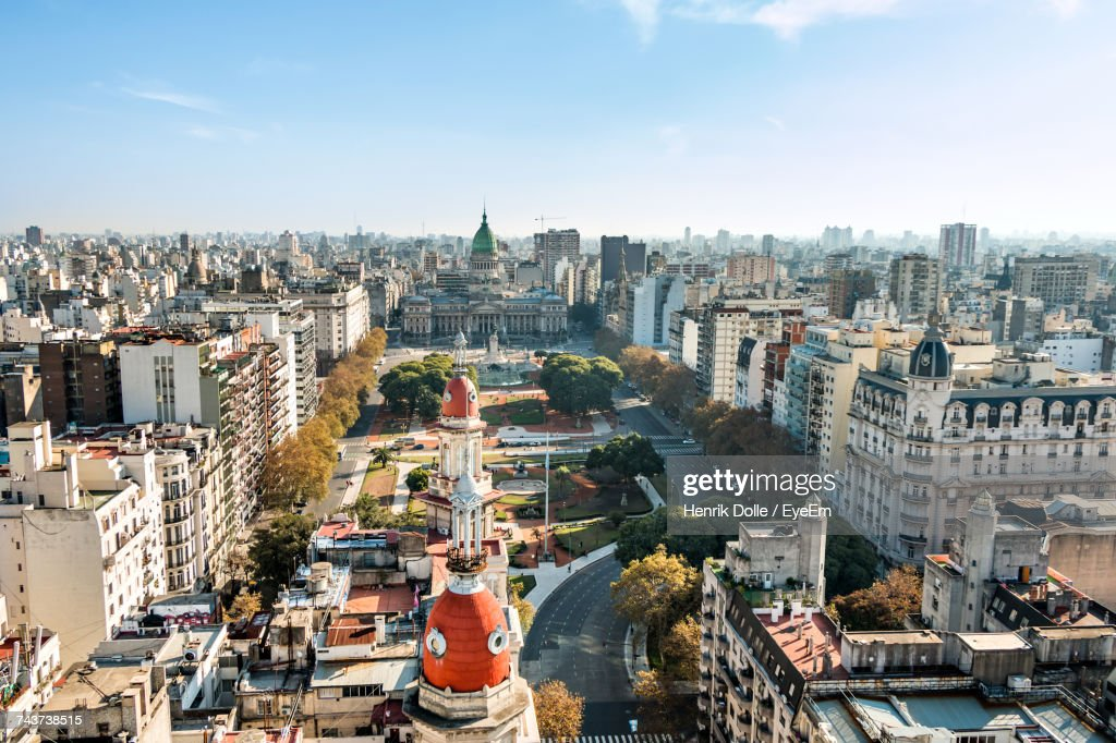 High Angle View Of Buenos Aires : Stock Photo