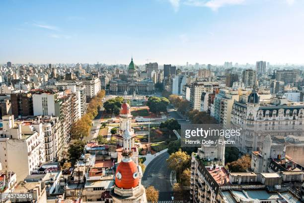 high angle view of buenos aires - buenos aires stock pictures, royalty-free photos & images