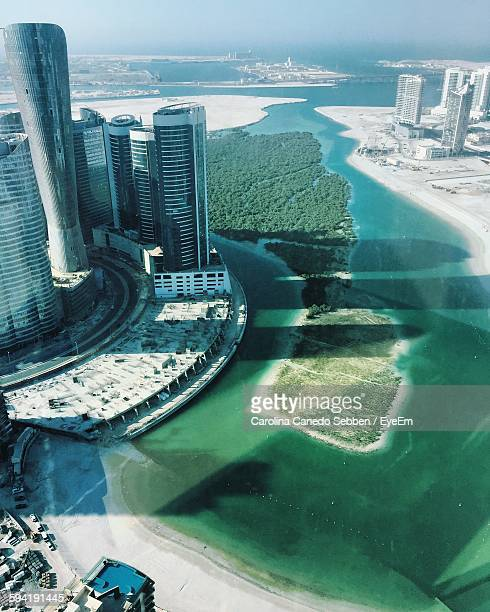 High Angle View Of Buildings At Al Reem Island