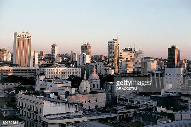 High angle view of buildings in a city Asuncion Paraguay