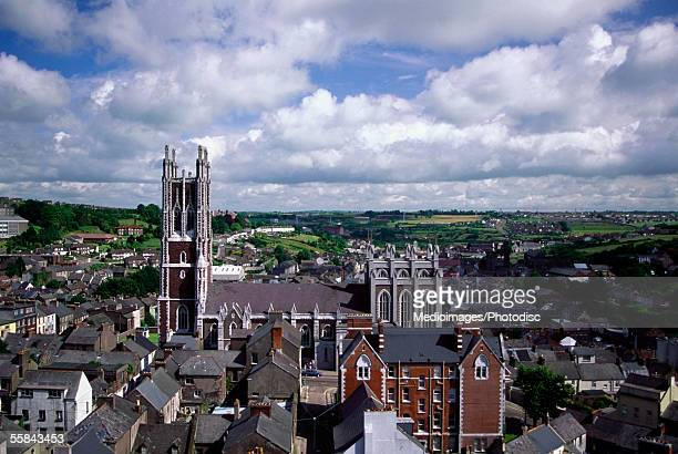 High angle view of buildings in a city, Cobh, County Cork, Ireland