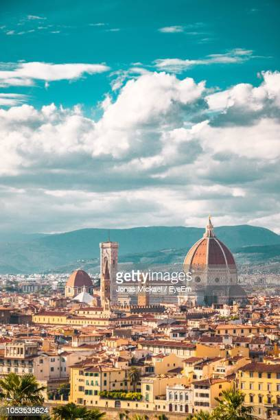 high angle view of buildings in city - florence italy stock pictures, royalty-free photos & images