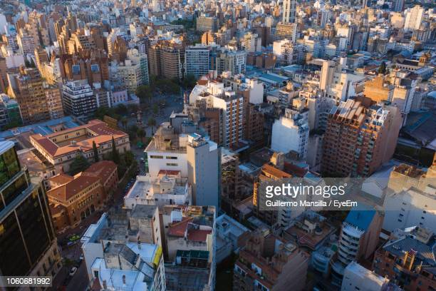high angle view of buildings in city - cordoba argentina fotografías e imágenes de stock