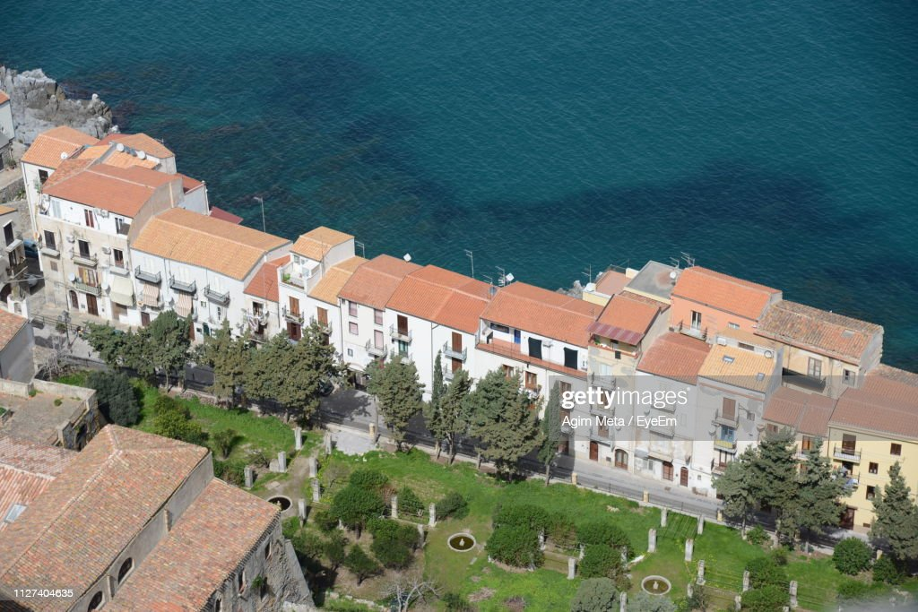 High Angle View Of Buildings In City : Stock-Foto