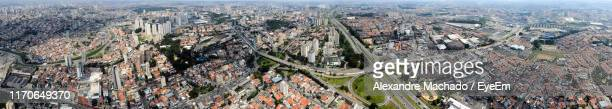 high angle view of buildings in city - sao bernardo do campo stock pictures, royalty-free photos & images