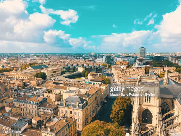 high angle view of buildings in city - toulouse stock pictures, royalty-free photos & images