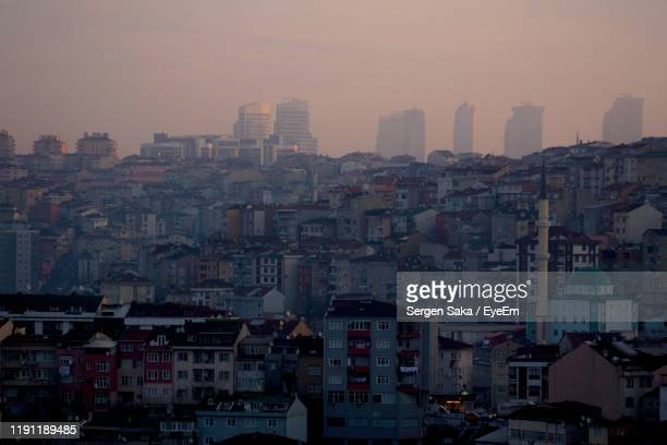 high angle view of buildings in city - saka stock pictures, royalty-free photos & images