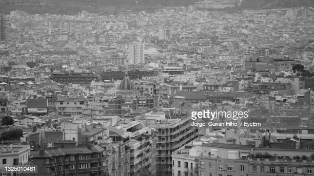 high angle view of buildings in city - filho stock pictures, royalty-free photos & images