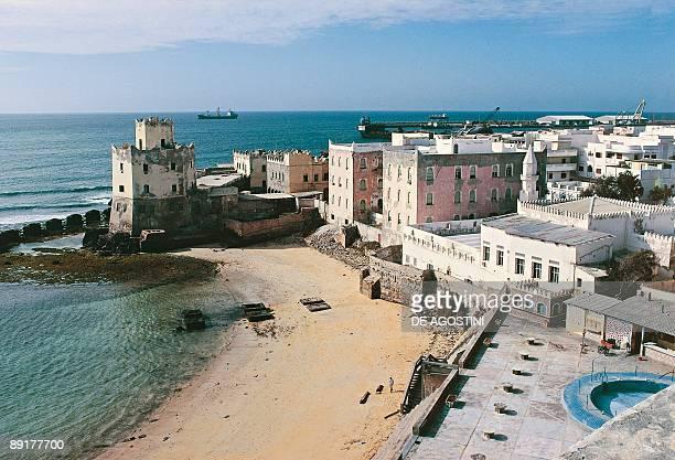 High angle view of buildings on the beach Mogadishu Somalia