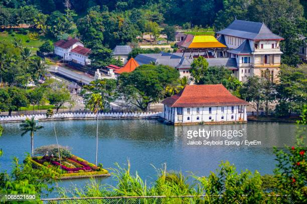 high angle view of buildings - kandy kandy district sri lanka stock pictures, royalty-free photos & images