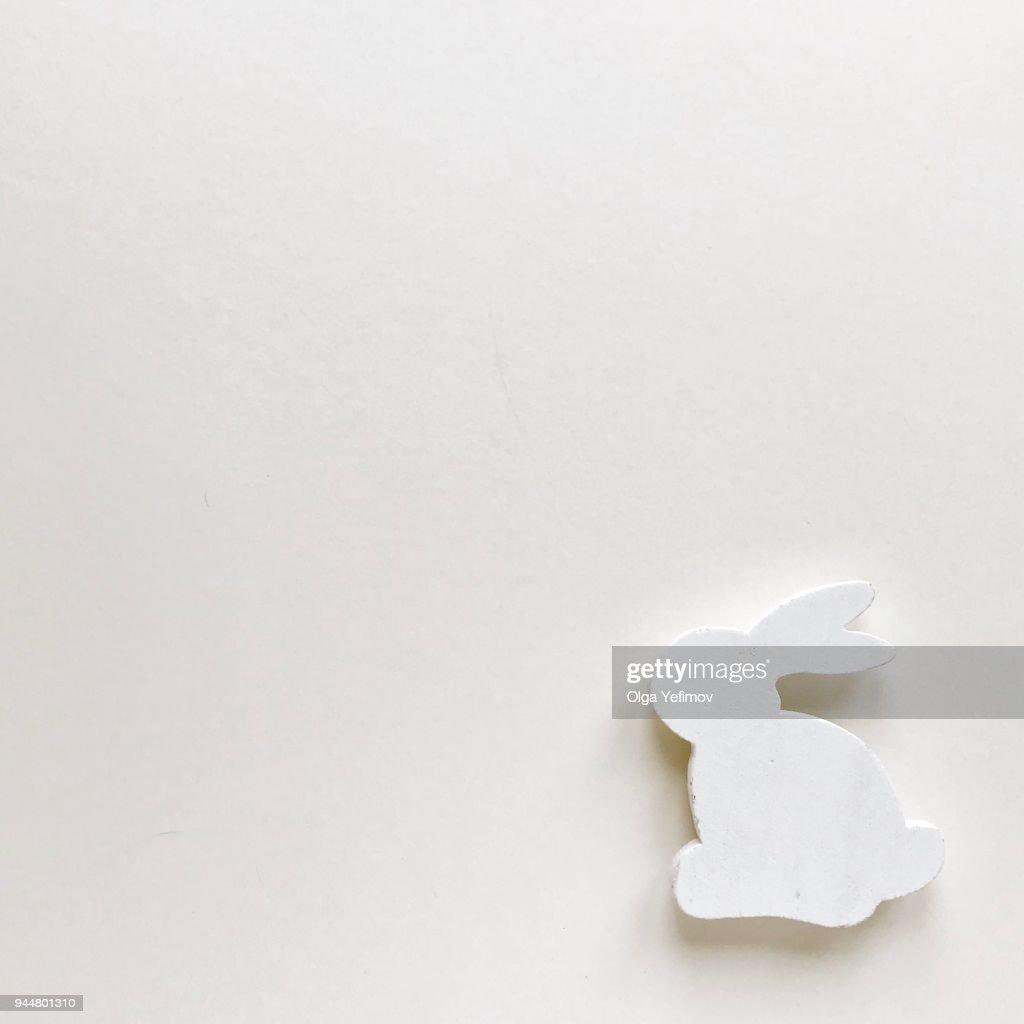 High Angle View Of Bunny On Table : Stock Photo