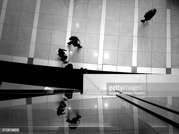 High angle view of businesspeople in office