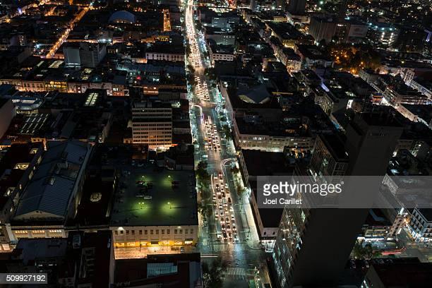 Mexique Ville de nuit