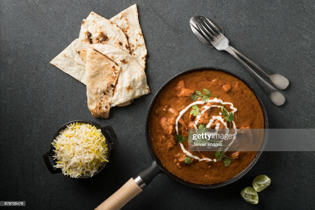 High Angle View Of Butter Chicken Curry. : Stock Photo