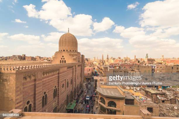 high angle view of cairo during daytime, egypt - cairo stock pictures, royalty-free photos & images
