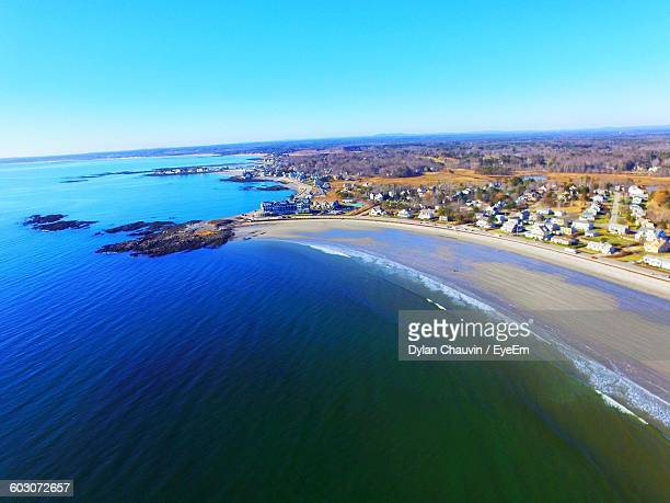 high angle view of calm blue sea - chauvin stock pictures, royalty-free photos & images