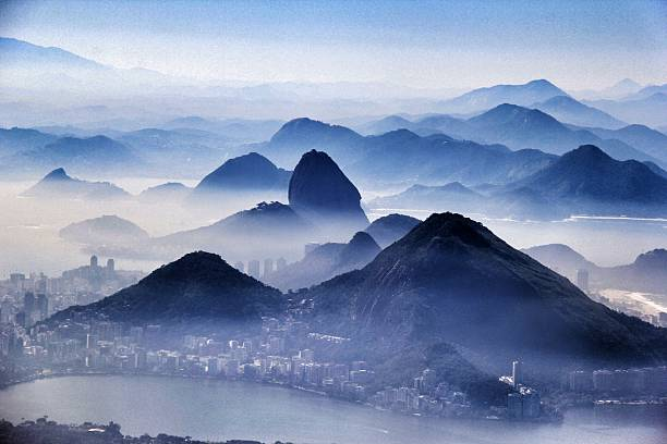 High Angle View Of Calm Lake Against Mountain Ranges Wall Art