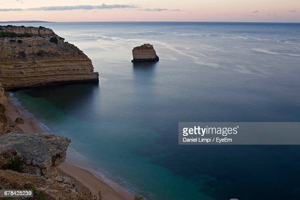 High Angle View Of Calm Sea Against The Sky